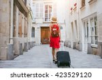 travel background  woman... | Shutterstock . vector #423529120