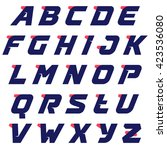 sport alphabet run logos design ... | Shutterstock .eps vector #423536080