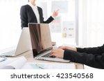 business people using laptop ... | Shutterstock . vector #423540568