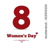 8 march  international women's...   Shutterstock .eps vector #423543103