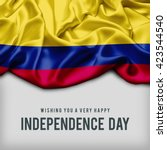 celebrating colombia... | Shutterstock . vector #423544540