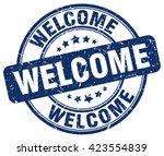 welcome. stamp | Shutterstock .eps vector #423554839