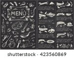 title page and menu list  for ... | Shutterstock .eps vector #423560869