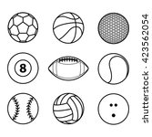 collection of sport ball icon... | Shutterstock .eps vector #423562054