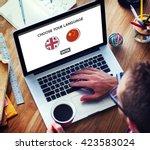 language dictionary english... | Shutterstock . vector #423583024