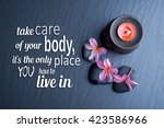 health quote  take care of your ... | Shutterstock . vector #423586966