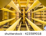 well casing and well slot at... | Shutterstock . vector #423589018