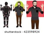 good for animation. man... | Shutterstock .eps vector #423598924