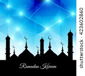ramadan kareem background | Shutterstock .eps vector #423602860