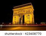 arc de triomphe paris | Shutterstock . vector #423608770