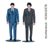 business suits for professional ... | Shutterstock .eps vector #423610378