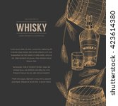 vector whisky production... | Shutterstock .eps vector #423614380