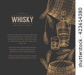 vector whisky production... | Shutterstock .eps vector #423614380