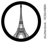 peace for paris symbol eiffel... | Shutterstock . vector #423614884