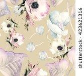 floral seamless pattern... | Shutterstock . vector #423621316