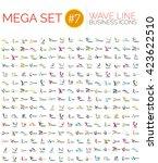 logo mega collection  abstract...   Shutterstock .eps vector #423622510