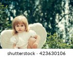 little cute boy dressed as... | Shutterstock . vector #423630106