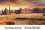 Monument Valley Landscape In...