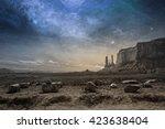 View Of A Rocky Desert...