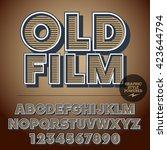 retro styled set of alphabet... | Shutterstock .eps vector #423644794