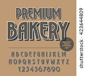 retro styled set of alphabet...   Shutterstock .eps vector #423644809