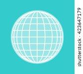 earth globe sign | Shutterstock .eps vector #423647179