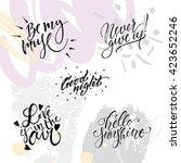 Hand Drawn Lettering Set....
