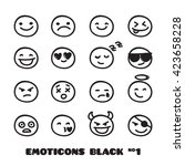 cute doodle style emoticons... | Shutterstock . vector #423658228