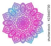 vector beautiful mandala....   Shutterstock .eps vector #423660730