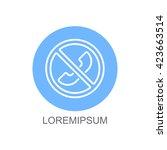 web icon. forbidden call  calls ... | Shutterstock .eps vector #423663514