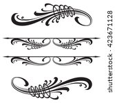 calligraphic vector design... | Shutterstock .eps vector #423671128