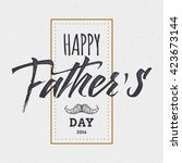 happy fathers day   poster ... | Shutterstock . vector #423673144