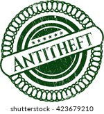 antitheft rubber grunge stamp | Shutterstock .eps vector #423679210