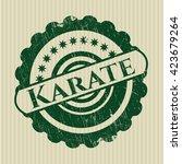 karate rubber grunge texture... | Shutterstock .eps vector #423679264