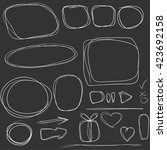 vector set of doodle icons ... | Shutterstock .eps vector #423692158