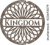 kingdom vintage wood emblem | Shutterstock .eps vector #423693079