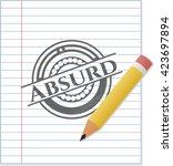 absurd emblem drawn in pencil