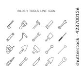 builder profession icon  tool ... | Shutterstock .eps vector #423700126