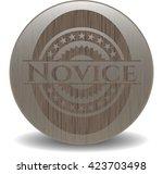 novice wooden emblem. vintage. | Shutterstock .eps vector #423703498