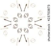 circular pattern  of zodiac... | Shutterstock . vector #423703873