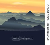 flat design vector illustration.... | Shutterstock .eps vector #423710470