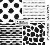 set of grunge seamless pattern... | Shutterstock .eps vector #423710956