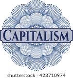 capitalism inside a money style ... | Shutterstock .eps vector #423710974