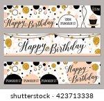 happy birthday felicitation... | Shutterstock .eps vector #423713338