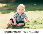 closeup outdoor portrait of a... | Shutterstock . vector #423713680