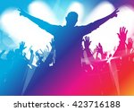 music background with dancing... | Shutterstock .eps vector #423716188