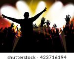 music background with dancing... | Shutterstock .eps vector #423716194