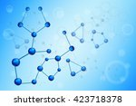 moleculer illustration... | Shutterstock .eps vector #423718378