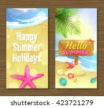 summer holidays and travel... | Shutterstock .eps vector #423721279