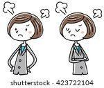 angry business woman ... | Shutterstock .eps vector #423722104